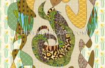 Mother Earth in Earthy Tones and Animal Patterns