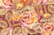 Watercolor Hand-Painted Red Yellow Autumn Fall Roses