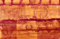 Vintage Maps on Brick Wall