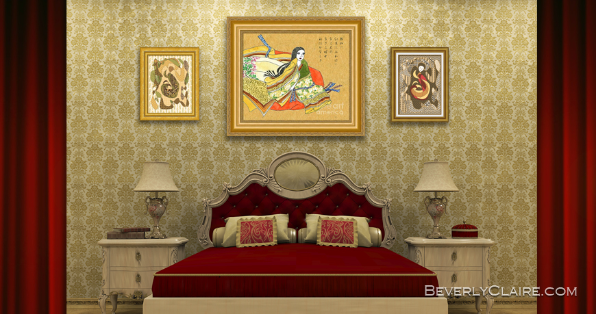 3D Rendering of Classical Bedroom by Beverly Claire Kaiya