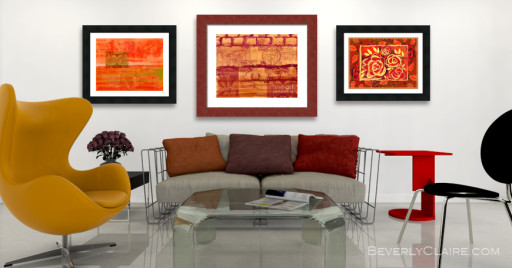 3D Visualization of Contemporary Living Room with Original Paint