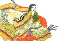 Ancient Japanese Noblewoman Akikonomuchugu