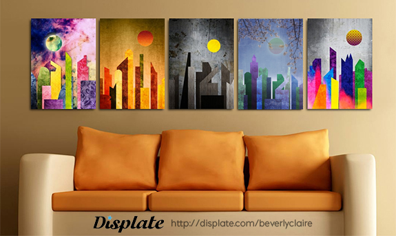 Geometric Cityscapes by Beverly Claire Fine Art on Displate