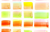 Watercolor Colorful Pastel Brick Rectangles