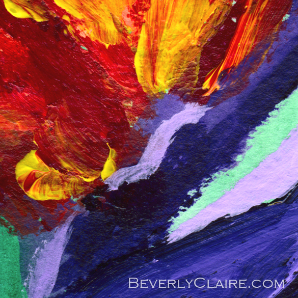 Bird of Paradise Crane Flower Acrylic Painting