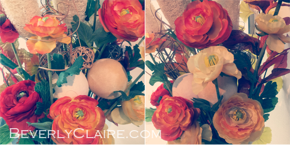 Silk flower peonies at home in a vase arrangement