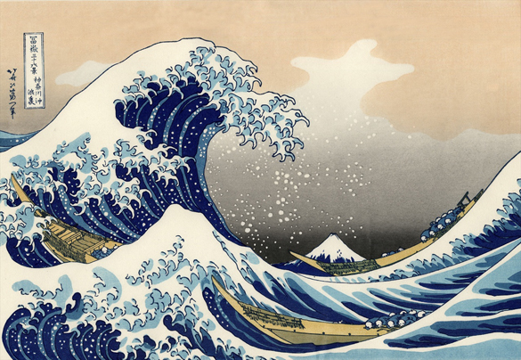 Hokusai's ultra-famous Great Wave Off the Coast of Kanagawa piece